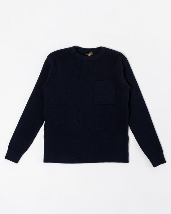 Salaun Sweater Virgin Wool Navy - Meadow