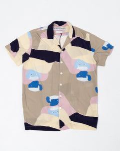 Shirt Notch SS People Print - Meadow