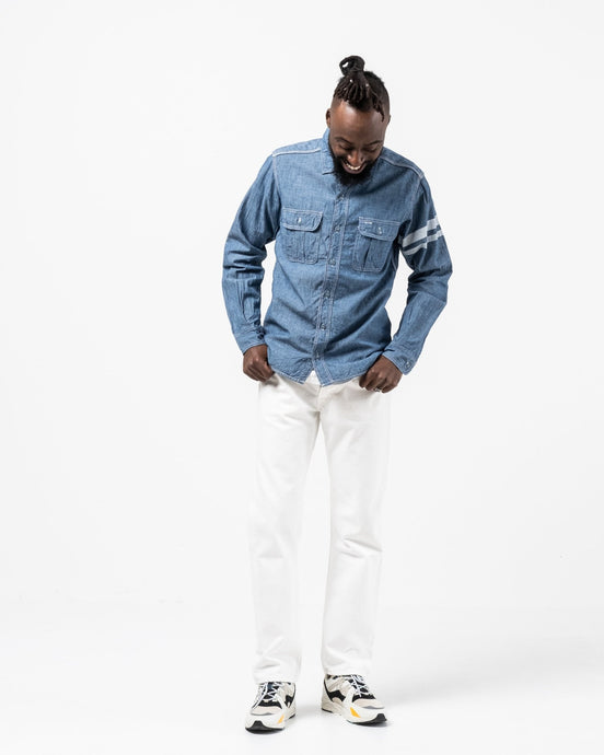 SJ091 Chambray Work Shirt 5 Oz - Meadow of Malmö