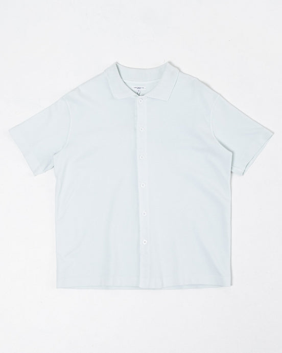 S/S Placket Polo Mist - Meadow