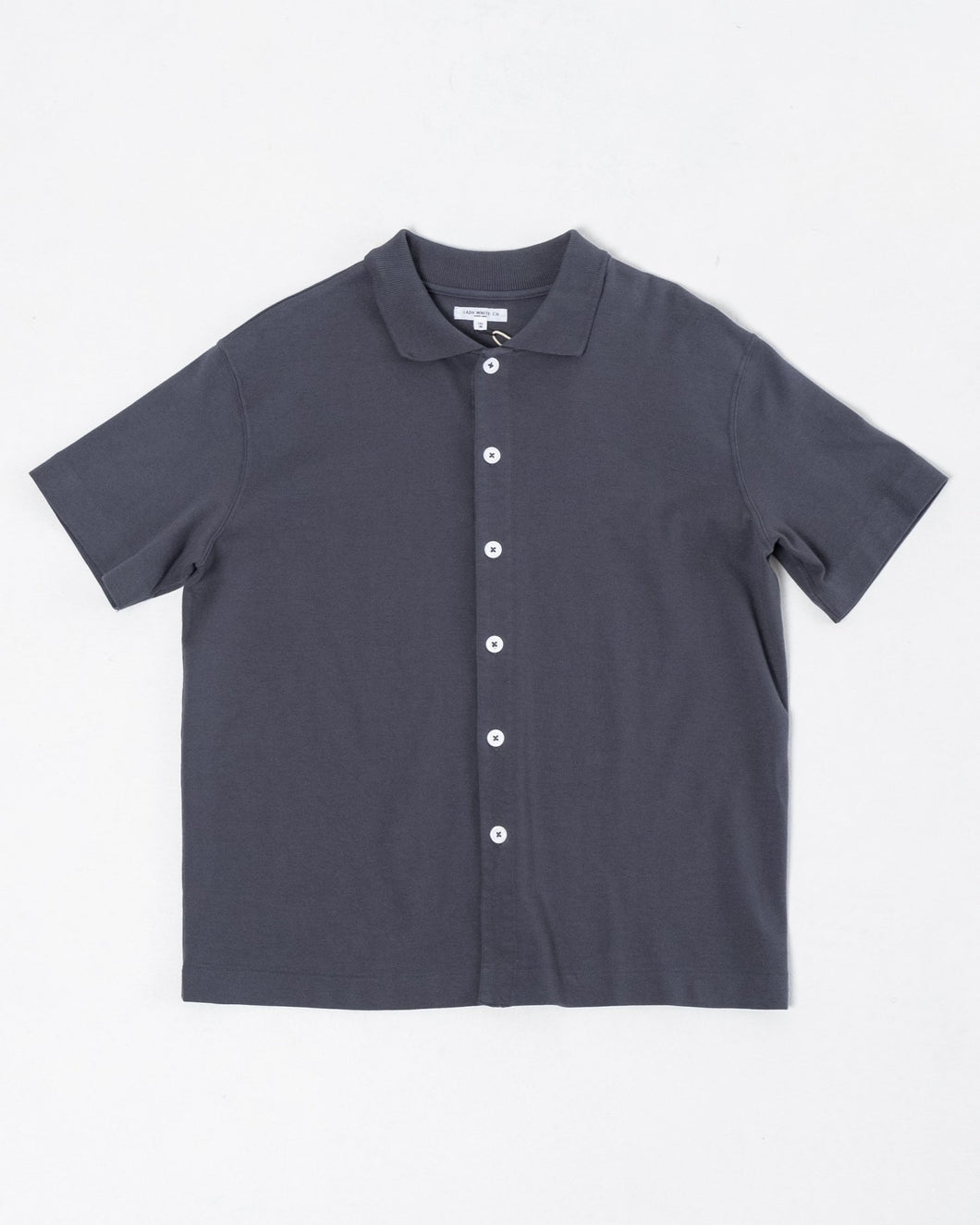 S/S Placket Polo Night Grey - Meadow