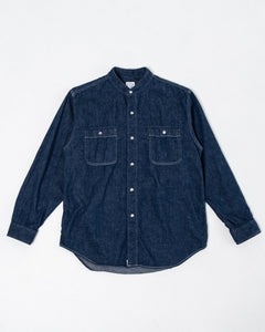 Stand Collar LS Shirt One Wash - Meadow
