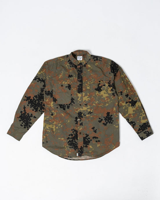 Stand Collar Shirt German Camouflage - Meadow of Malmö