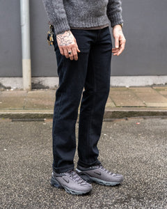 Straight Cut Jeans Rinsed Black - Meadow
