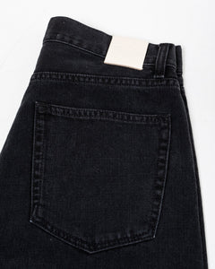 Straight Cut Jeans Rinsed Black - Meadow of Malmö