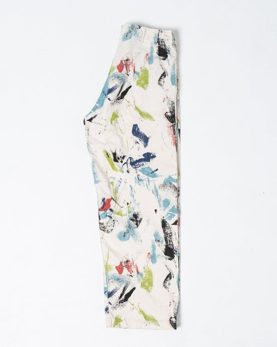 Summer Wide Fatigue Pants Print - Meadow of Malmö