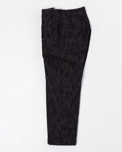 Trygve Wide Cut Cropped Trousers Black Hemp - Meadow