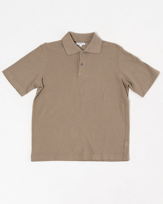 Two Button Polo Almond - Meadow