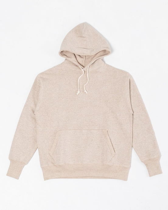 Two-Needle Loopwheel Hoodie Oatmeal - Meadow