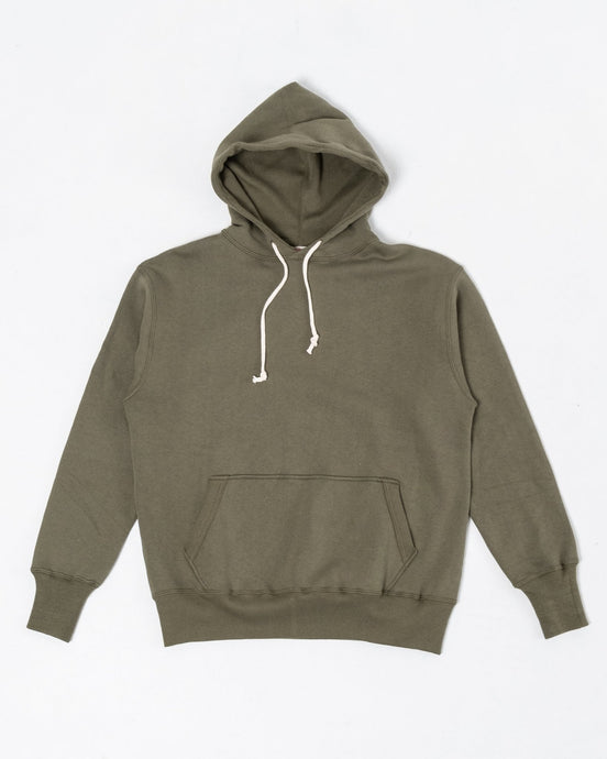Two-Needle Loopwheel Hoodie OD Green - Meadow