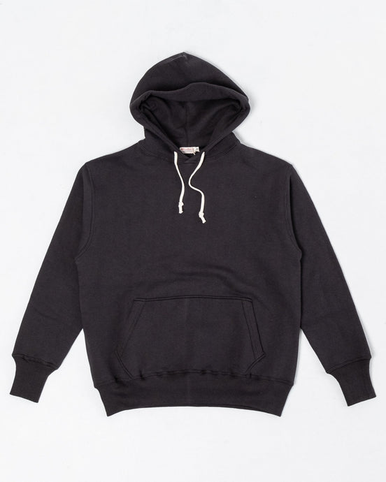 Two-Needle Loopwheel Hoodie Sumikuro Black - Meadow