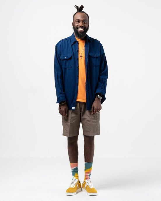 Vintage Fit Flannel Shirt Indigo - Meadow
