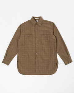 Vintage Fit Work Shirt Green Check - Meadow