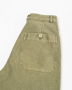 Wide Work Pant Washed Kaki - Meadow of Malmö