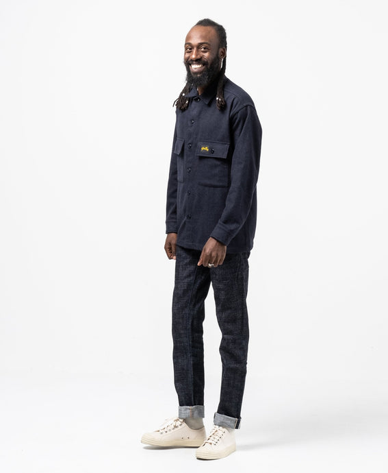 Wool CPO Shirt Navy - Meadow of Malmö