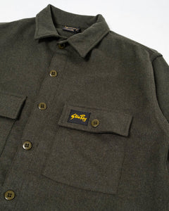 Wool CPO Shirt Olive - Meadow of Malmö