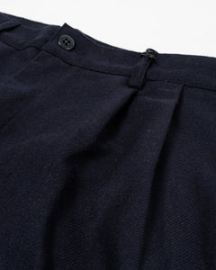 Wool Double Pleat Chino Navy - Meadow of Malmö