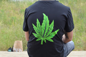 Black Gras T-shirt (Green Leaf)