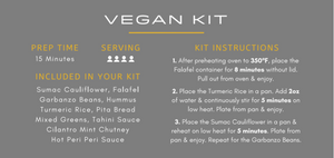 Load image into Gallery viewer, SAJJ Vegan Meal Kit