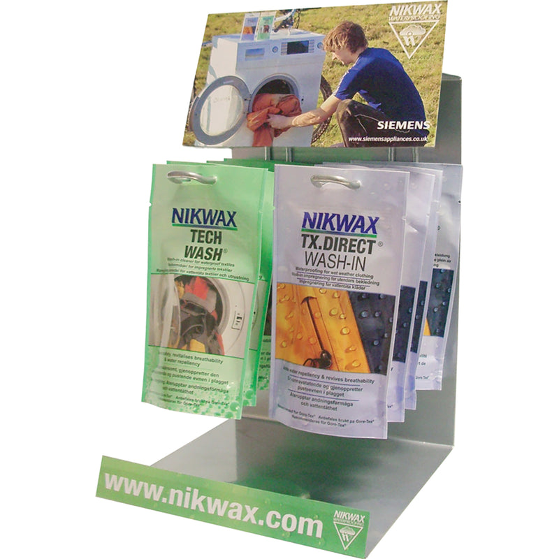 Nikwax Tech Wash/tx Direct Wash-in Display Stand