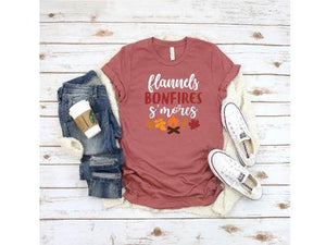 Flannel, Bonfires, Smores T-shirt