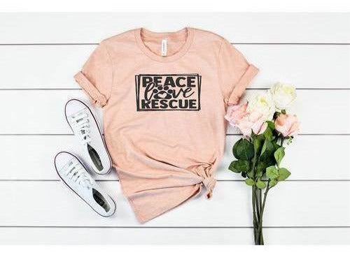 Peace, Love & Rescue Tee