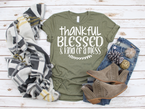 Thankful, Blessed, Kind of A Mess T-Shirt