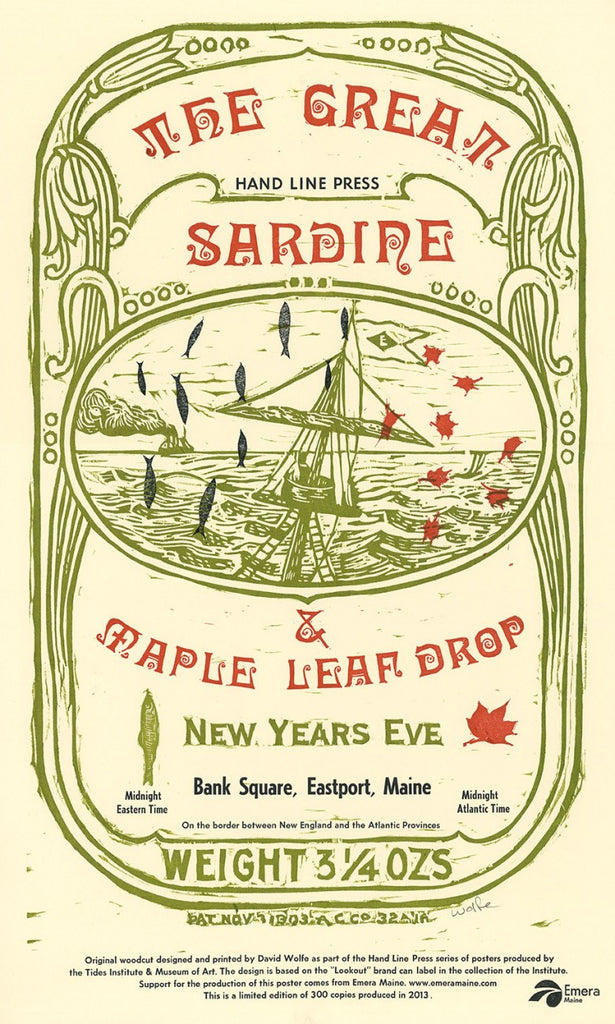 Great Sardine & Maple Leaf Drop Poster: New Year's Eve