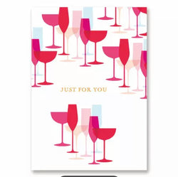 Greeting  Cards -  Just for You Glasses