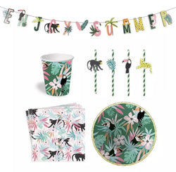 Party Tableware Tropical Jungle Set - Shop Home decor, Kitchenware, Fragrances, Scents, and more online!