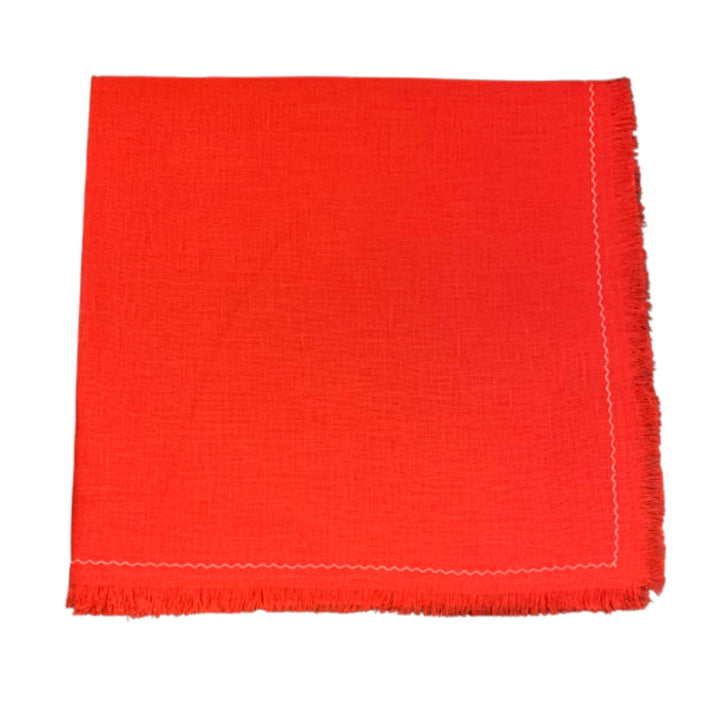 Linen Table Napkins - Red