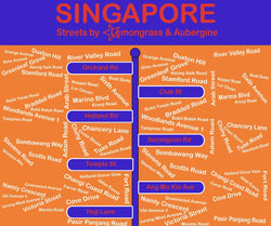 Singapore Table Mat Streets - Shop Home decor, Kitchenware, Fragrances, Scents, and more online!