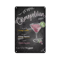 Tin Wall Poster - Cocktails