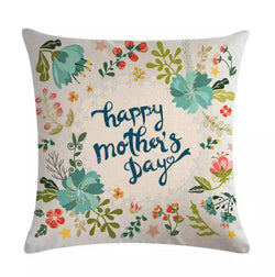 Cushion cover linen - Happy Mother's Day Flowers