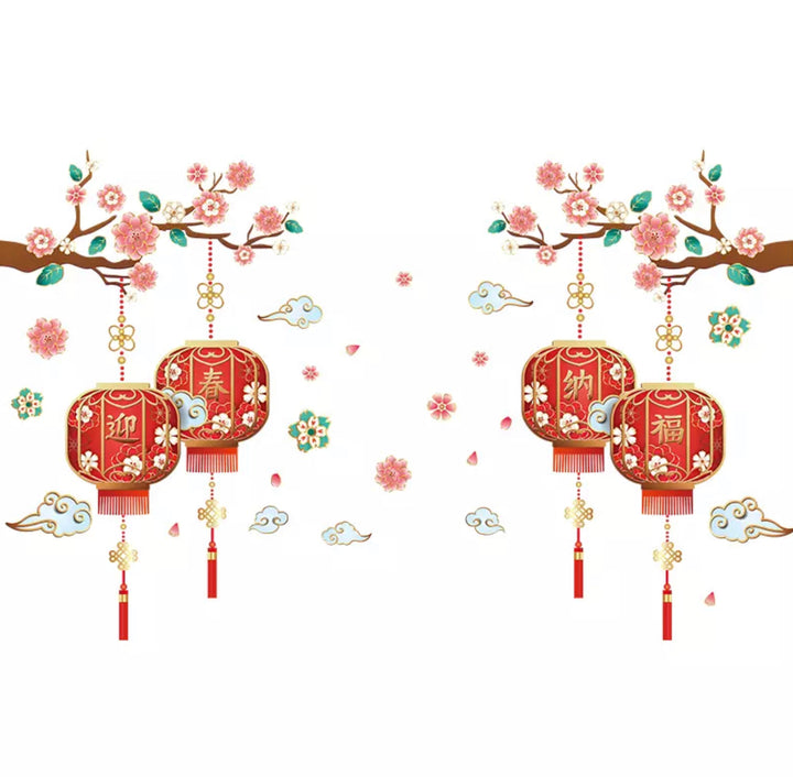 Chinese New Year  Window Stickers - 4 lanterns