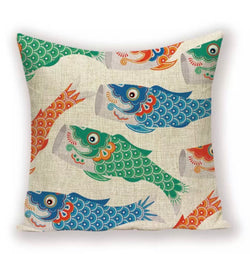 Cushion cover linen - Fish