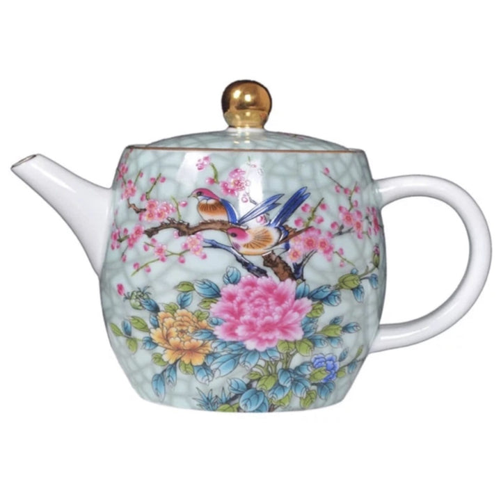 Chinese Tea Pot - Flowers & Birds