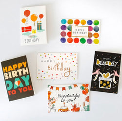 Greeting  Cards Birthday - pack of 6 mini cards