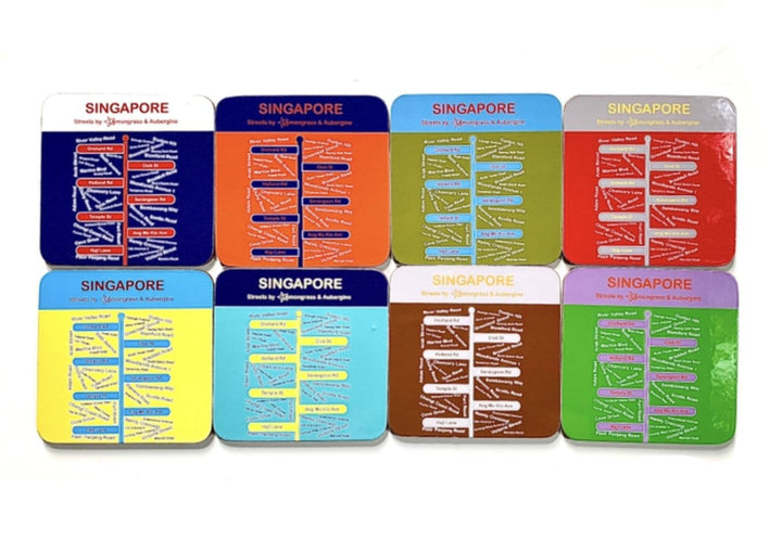 Singapore Streets Coasters - Set of 8