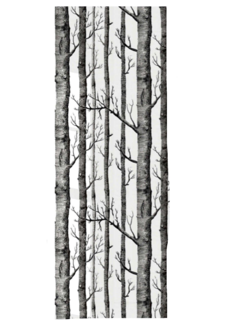 Stick & Peel Wallpaper - Black & White Forest
