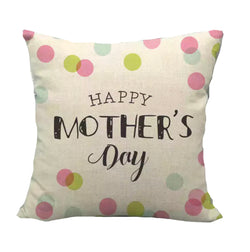 Cushion cover linen - Happy Mother's Day Dots