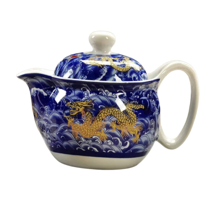 Chinese Tea Pot - Blue Dragon & Gold