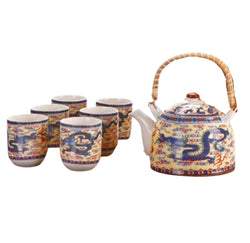 Chinese Tea Set Dragon - 6 cups