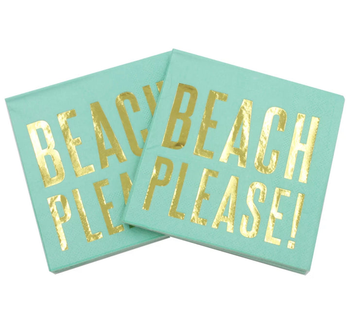 Cocktail Paper Napkins - Beach Please !