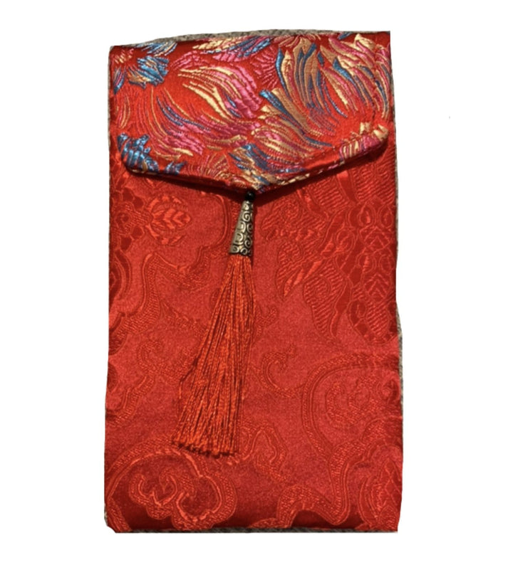 Red Envelop Ang Bao - Silk Style with red tassel