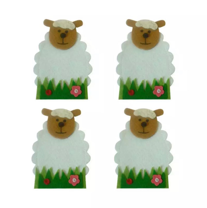 Easter Sheep Cutlery Holder - set of 4 pieces