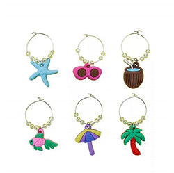 Wine Glass Charms - Seaside 2 models