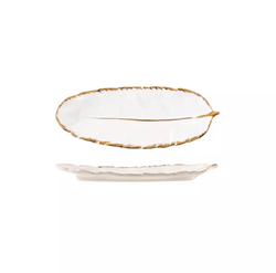 Gold & White Dish Plate Wendy | 2 sizes