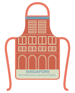 Singapore Black & White Houses Apron - Shop Home decor, Kitchenware, Fragrances, Scents, and more online!