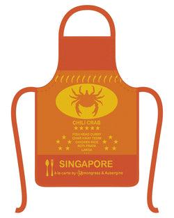 Singapore Chili Crab Apron - Shop Home decor, Kitchenware, Fragrances, Scents, and more online!